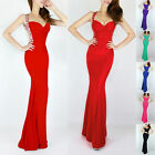 Long Chiffon Evening Formal Party Cocktail Prom Bodycon Dress6 8 10 12 14+