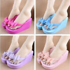 JR New Women Summer Thick-soled Bow Sandals Beach Slippers Flip-flops Shoes AU 4