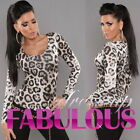 Sexy Women's Leopard Print Top Size 10 8 6 Scoop Neck Shirt Party Casual XS S M