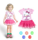 "New Baby Girls Princess ""Hello kitty"" tutu party birthday dress  from 6M to 3Yrs"