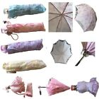 Mini Folding Parasol Sun Umbrella Bride Wedding stage Decoration Party Display