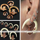 Women Punk Gauge Resin Carved Owl Animal Ear Plug Expander Stretcher Spiral Hot