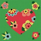 Heart Art Deco Needlepoint Kit or Canvas (Floral Flower Valentine)