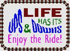 Ups And Downs Needlepoint Kit or Canvas (Quote /Wisdom /Funny /Sayings)