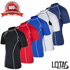 Lotas Mens Compression Base Layer Top Short Sleeve Body Under Armour Sport Shirt