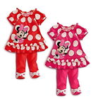 Girls Baby Kids Dot Top Dress Pants Leggings Minnie Mouse 6M-3Y Outfit Clothing