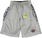 Zipway NBA Big and Tall Men's New Orleans Pelicans Checkered Shorts - Grey
