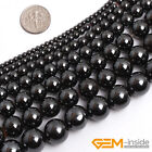 "Natural Black Magnetic Hematite Round Ball Beads For Jewelry Making 15""2mm-16mm"