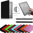 "For Kindle 5 & Kindle 4 6"" E Ink Display Leather Case Magnetic Closure  Cover"