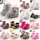 NEW Cute Anti-Slip Winter Baby girls Infant Toddler Shoes Boots 0-18 Month
