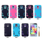 Cute 3 in 1 Hybrid PC Silicone Back Case Cover Skin For Samsung Galaxy S5 i9600
