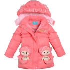 Winter Kids Outerwear 3-6Y Girls Clothes Coat little mermaid Down Jacket GC26