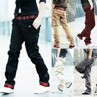 Hot Mens Stylish Design Jeans Straight Slim Fit Trousers Casual Long Cargo Pants