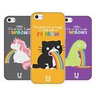 HEAD CASE RAINBOW PUKE TPU GEL BACK CASE COVER FOR APPLE iPHONE 5C