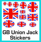 British GB Union Jack Stickers Labels Cool Britannia Circles Rectangles Ovals