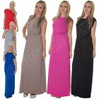 New Womens Ladies Grecian Greek Full Length Sleeveless Maxi Dress Size S M L XL