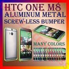 ALUMINUM BUMPER METAL CASE COVER SCREWLESS FRAME for LATEST HTC ONE M8 MOBILE