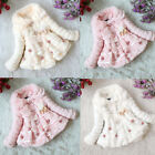 Girls Kids Fleece Tops Coats Pageant Winter Warm Jackets 1-5Y Snowsuits Outwear