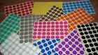 Stickers White Yellow Red Orange Pink Green Blue Purple Black Silver Gold 20mm