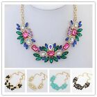 Fashion Women Flower Resin Gold Chunky Statement Collar Choker Necklace Pendant