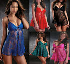 Sexy Lingerie Women Lace Stain Sleepwear Babydoll Underwear Dress G-string S-XXL