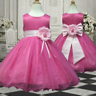 USM3D58 L.Pink Christmas Formal Occasion Girl Dress 1,2,3,4,5,6,7,8,9,10,11-13