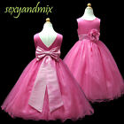 USM1D59A Hot Pink Christmas Baby Flower Girl Dress 1,2,3,4,5,6,7,8,9,10,11-13Yrs