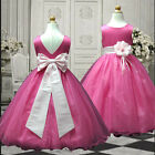 USM1D59A L.Pink Childrens bridesmaid Wedding Party Flower Girl Dress 1 to 13 Yrs