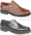 MENS BROGUE WIDE FIT SHOES LEATHER CASUAL SMART BROGUES FORMAL SHOE