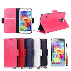 PU Leather Magnetic Wallet Stand Flip Case Cover For Samsung Galaxy S5 V i9600