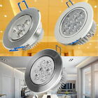 6/12/30x LED Ceiling light Down bulb 3W/7W/12w Day/Warm White Recessed Aluminium