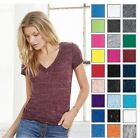 Bella+Canvas Women's Missy Fit Deep V-Neck Jersey Tshirt T-Shirt 6035-27 COLORS!