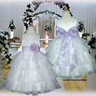 USMD75 Lilac Pageant Easter Wedding Bridesmaid Flower Girls Dress Ages 1 to 14