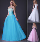 Strapless Satin+Tulle Prom Ball Party Cocktail Bridesmaid Pageant Evening Dress