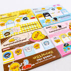 Happy Funny Duck Post It Bookmark Sticky notes Pad Memo Stationery Kid Set A0150