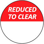 30mm Bright Red Reduced To Clear Sale Price Stickers / Sticky Swing Tag Labels