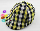 Lovely Baby Boy Girl Plaid Summer Hat 3-24 Months Checkes Sun Cap Beret Hat AUJR