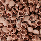 M10 (10mm) MYRTLEWOOD BROWN DRILL HOLE COVER CAPS,BLANKING HOLEFIX FURNITURE