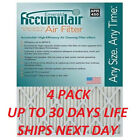 4 ACCUMULAIR EMERALD PLEATED MERV 6 HOME AIR FILTERS FURNACE CONDITIIONING MEDIM