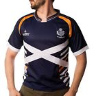 ADULTS SHORT SLEEVE SALTIRE POLYESTER RUGBY SHIRT SIZE XS TO XXL