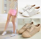 Womens Ladies Elegant Casual Cutout Lace Up Oxford Brogue Shoes Plus Size 237