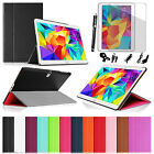 For Samsung Galaxy Tab S 10.5 inch Leather Smart Book Smart Cover Case + Bundles