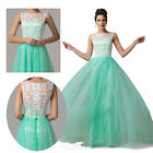Charming Sexy Lace Satin Bridesmaid Wedding Prom Gown Party Ball Evening Dress g
