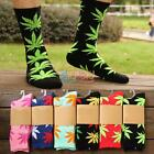Men Women Plantlife Marijuana Weed Maple Leaf High Ankles Comfort Sock 18 Colors