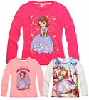Girls Disney Princess Sofia The First Long Sleeve T Shirt Kids Top Age 2-8 Years