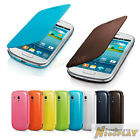 New Leather Case Flip Cover Back Battery Cover For Samsung Galaxy S3 mini I8190