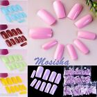500p French ABS Acrylic FULL Cover False Artificial Nail Art Tip Salon Decor DIY