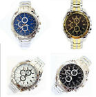 Hot Sale Mens Gentlemen Stainless Steel Quartz Analog Hand Sports Wrist Watch