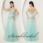 Girls Luxury  Fashion Cocktail party Ball Gowns Evening Formal Tulle Dresses