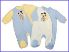 Official Disney Mickey Mouse Baby Boys Fleece Sleepsuit. 3, 6, 12, 18, 23 Months